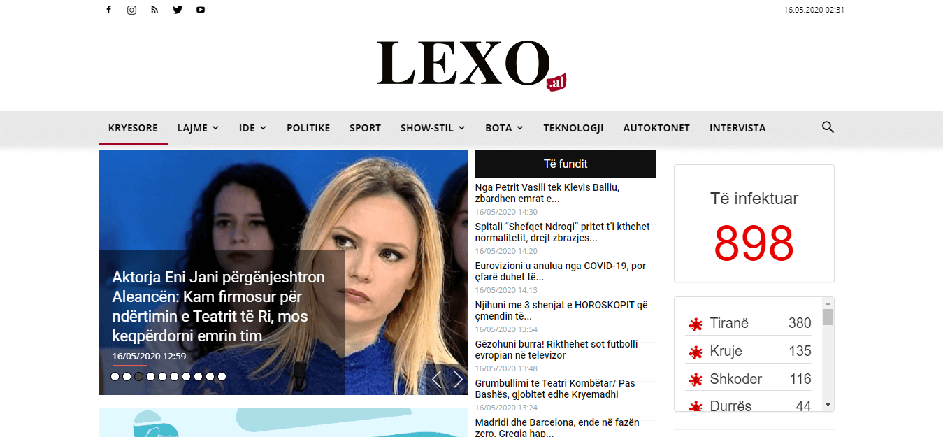 Albanian Newspapers 32 Lexo Website