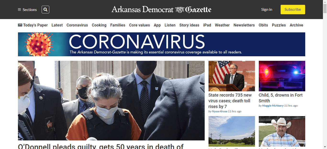 Arkansas Newspapers 01 Arkansas Democrat Gazette website
