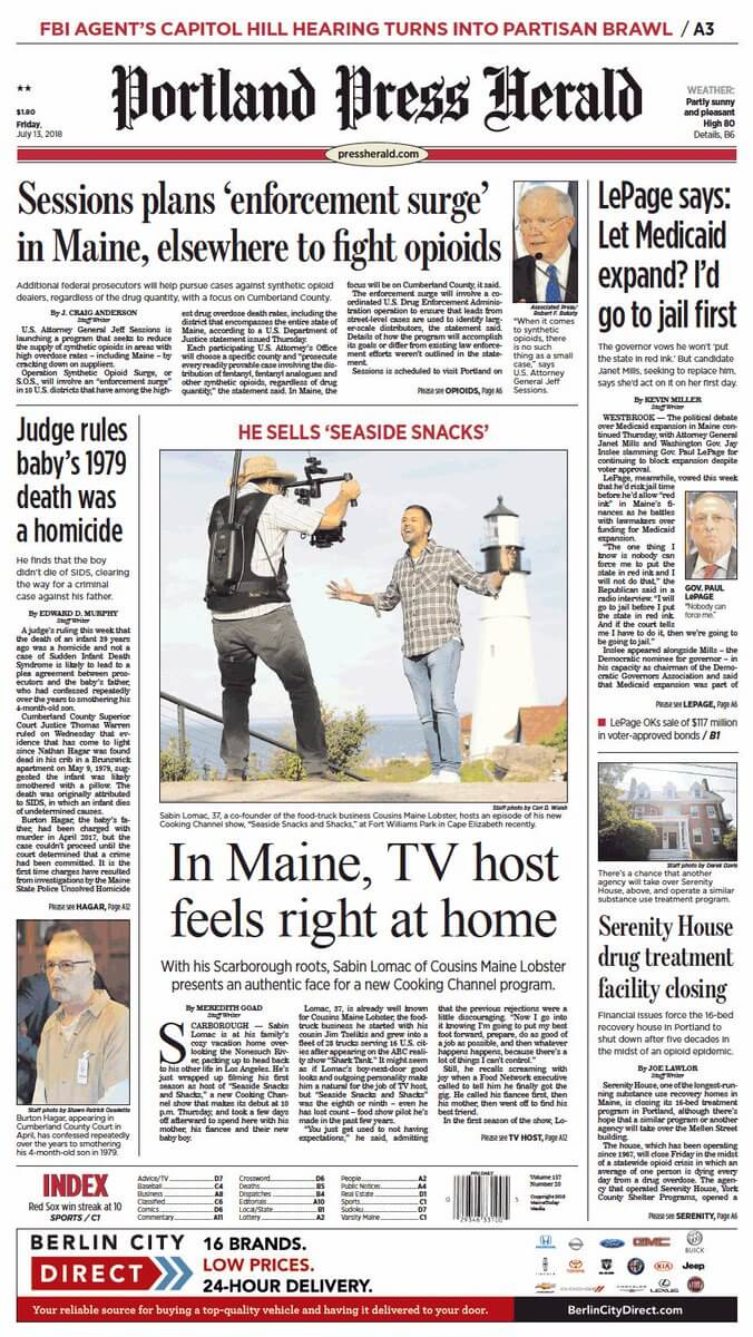 Maine Newspapers 01 Portland Press Herald