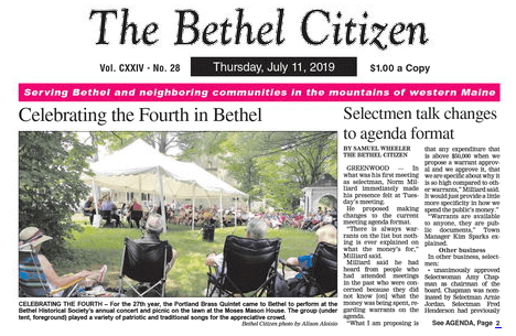 Maine Newspapers 12 Bethel Citizen