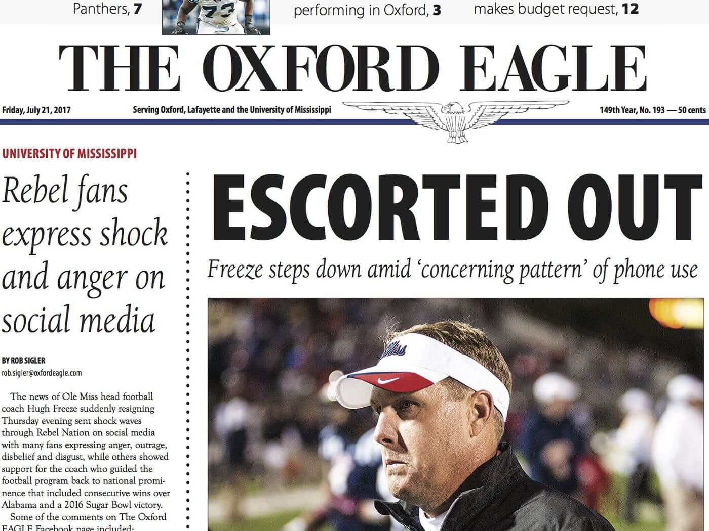 Mississippi Newspapers 17 The Oxford Eagle