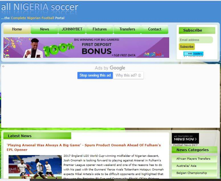 Nigeria 44 All Nigeria Soccer website