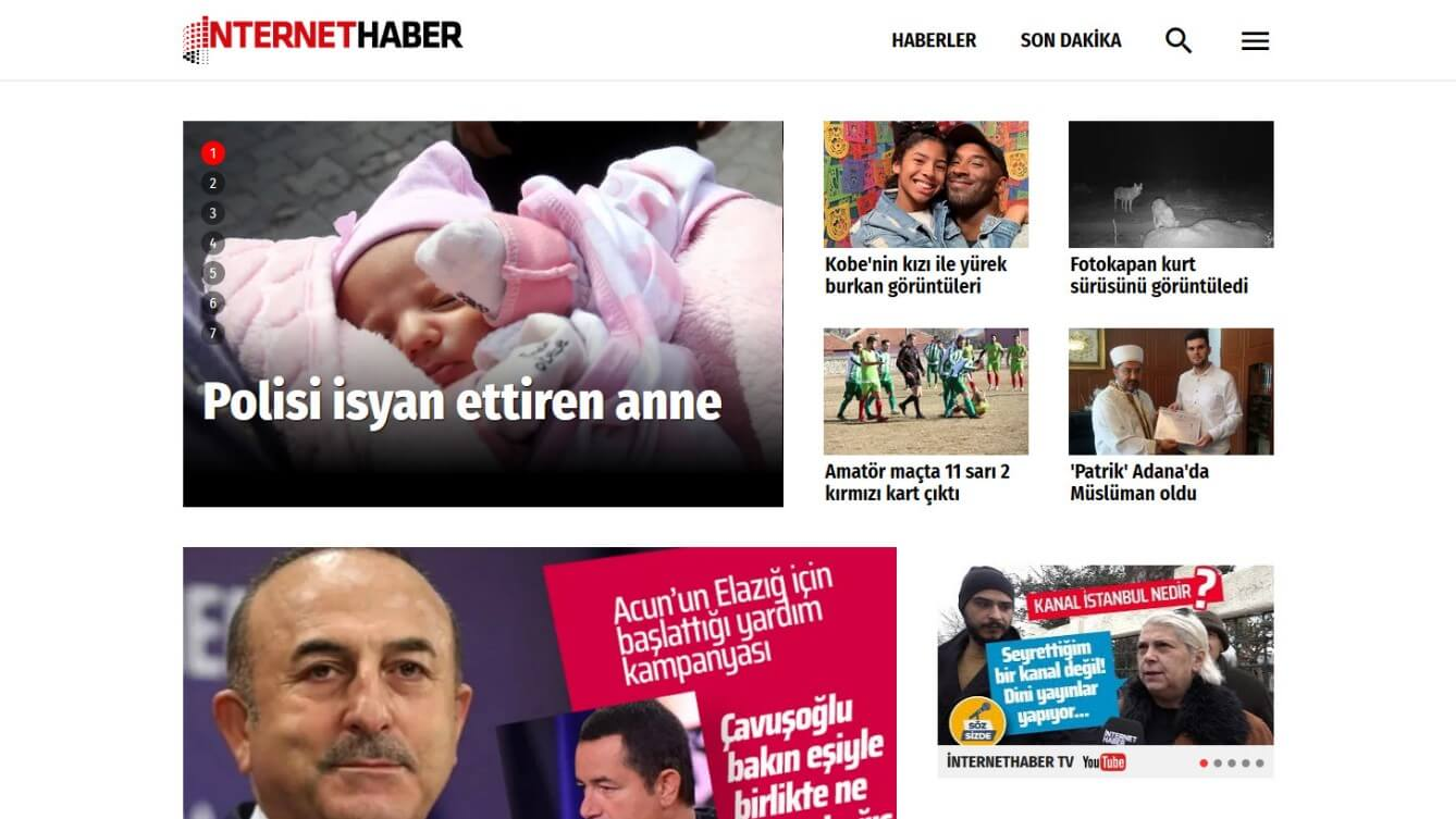 Turkish Newspapers 17 InternetHaber Website