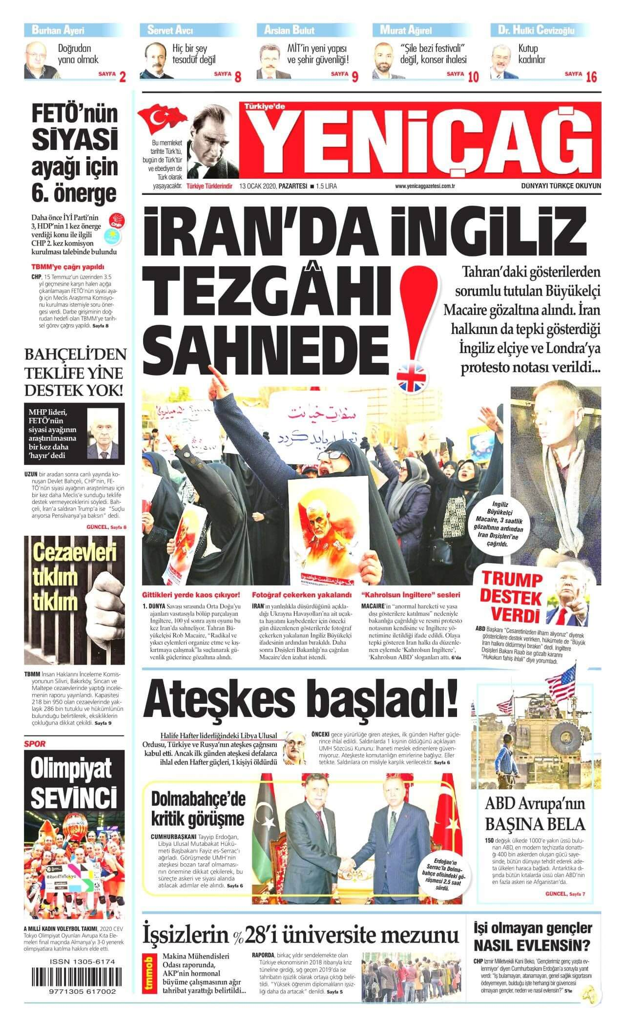 Turkish Newspapers 18 Yenicag