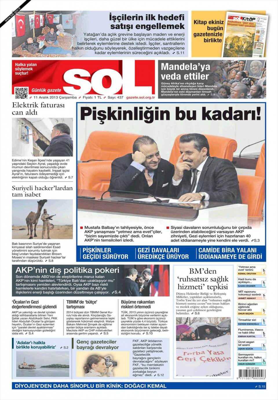 Turkish Newspapers 25 SoL