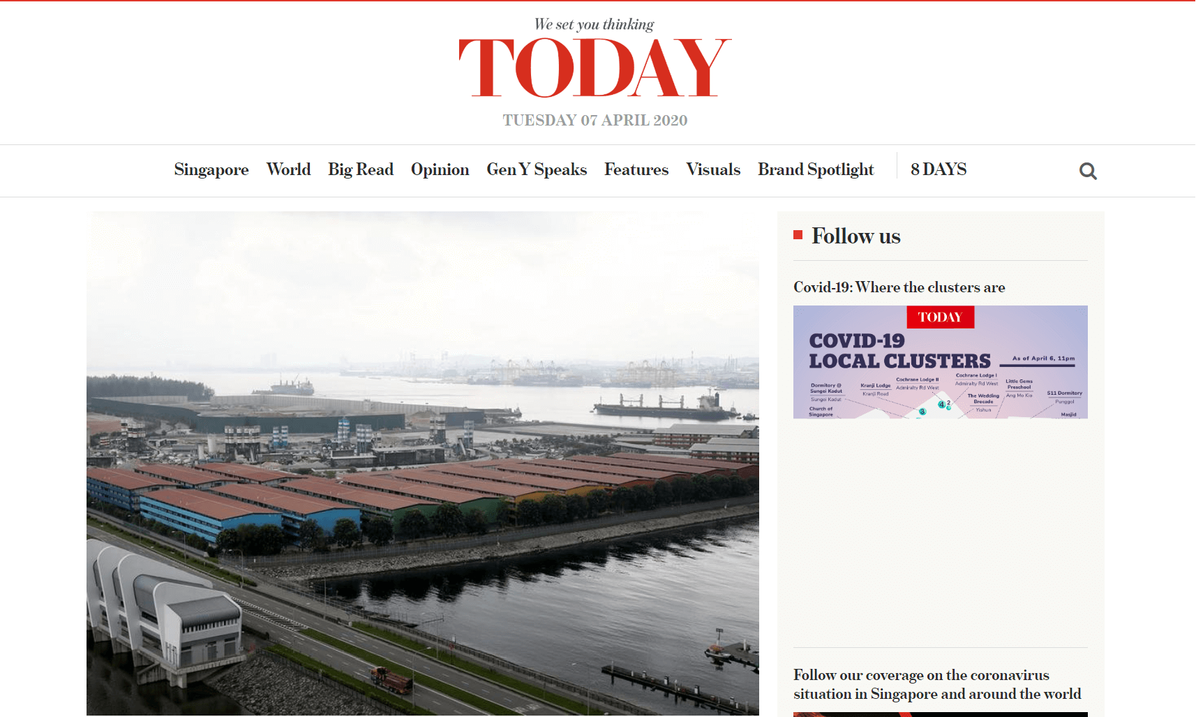 Singapore Newspapers 5 Today Website