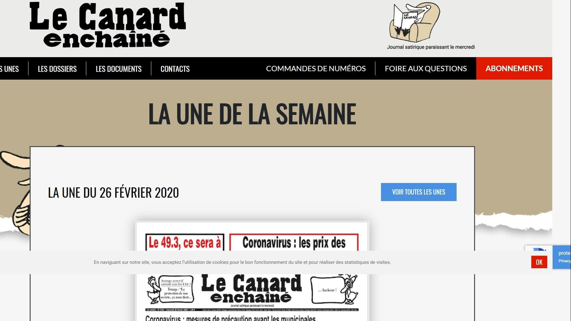 france newspapers 9 Le Canard enchaine website