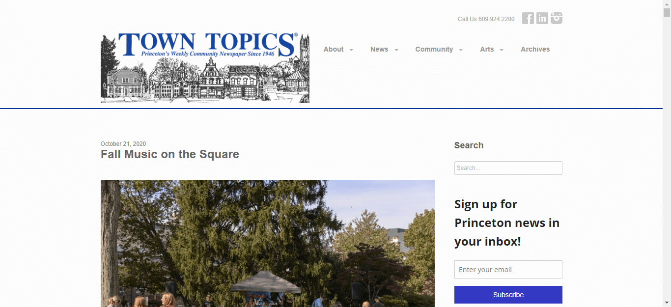 New Jersey newspapers 41 Town Topics website