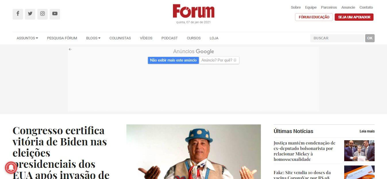Brazil newspapers 18 Forum‎ website