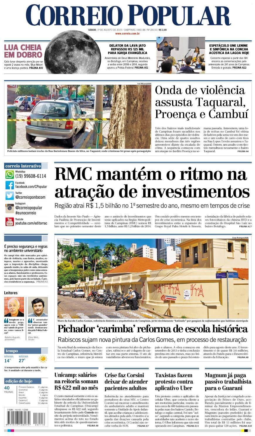 Brazil newspapers 46 Correio Popular