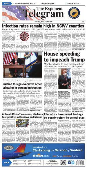 West Virginia Newspapers 05 Clarksburg Exponent Telegram