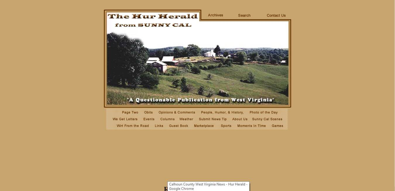 West Virginia Newspapers 17 Hur Herald Website
