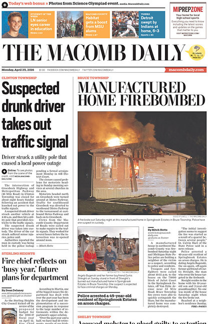 Detroit Newspapers 06 The Macomb Daily