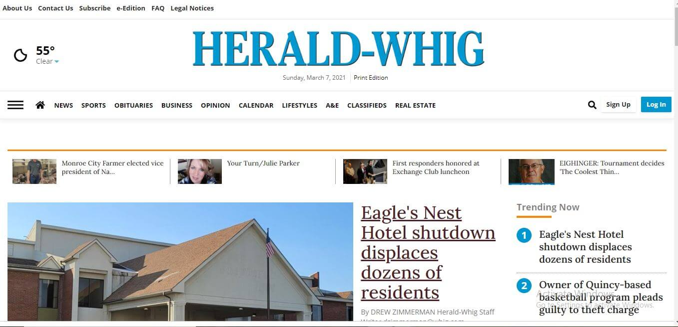 Illinois Newspapers 07 Quincy Herald Whig Website