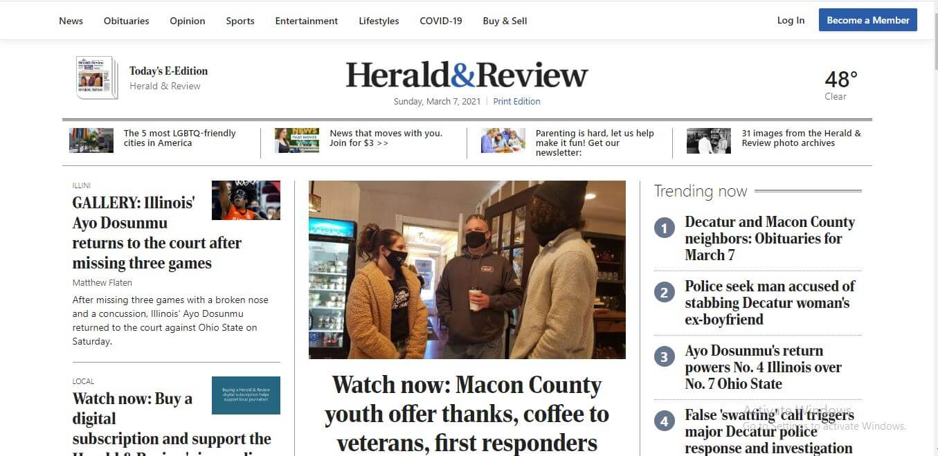 Illinois Newspapers 11 Herald Review Website