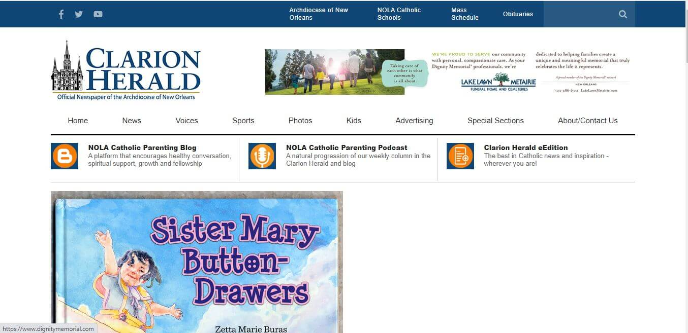 New Orleans Newspapers 07 Clarion Herald Website