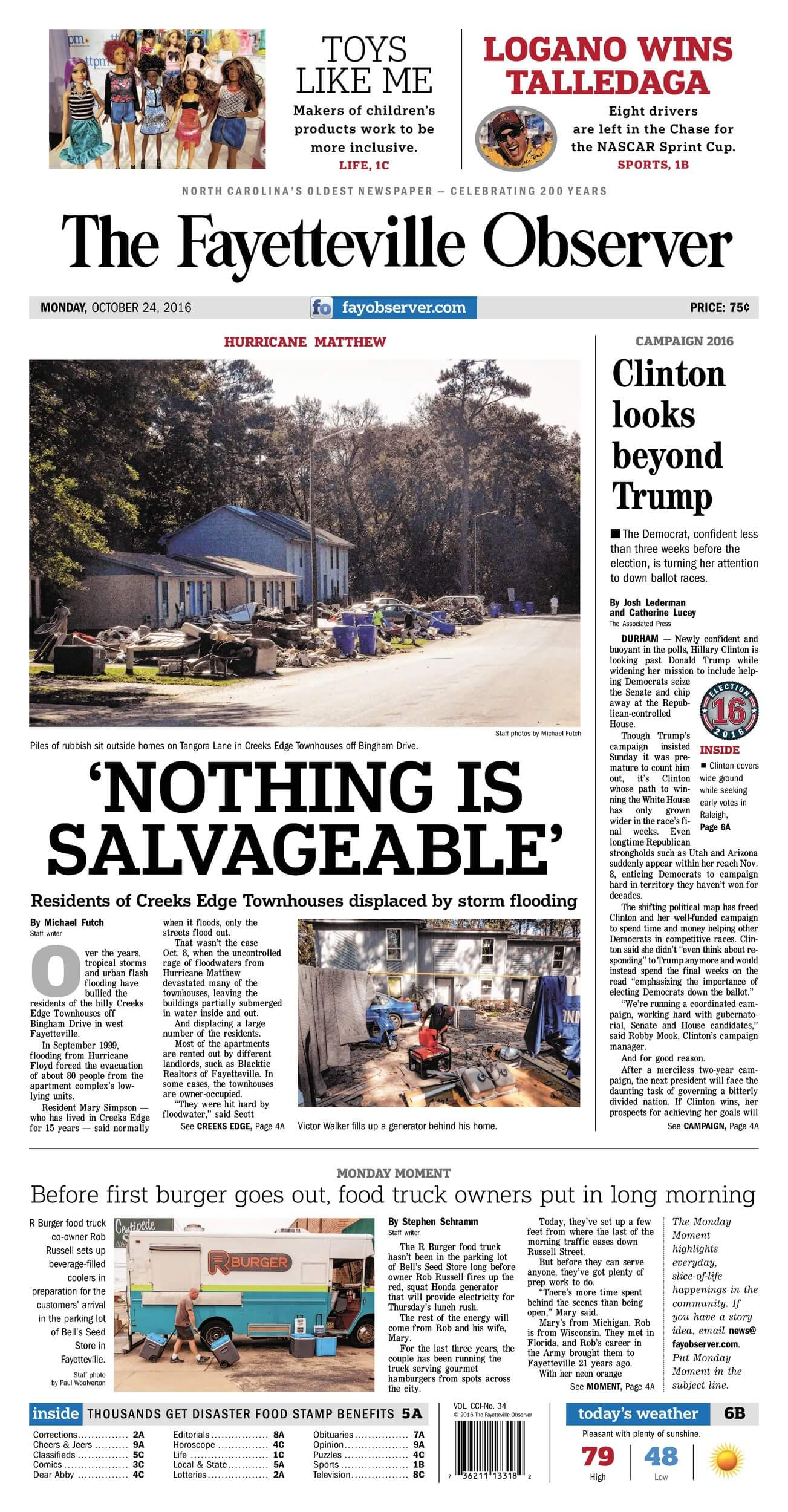 North Carolina newspapers 15 The Fayetteville Observer