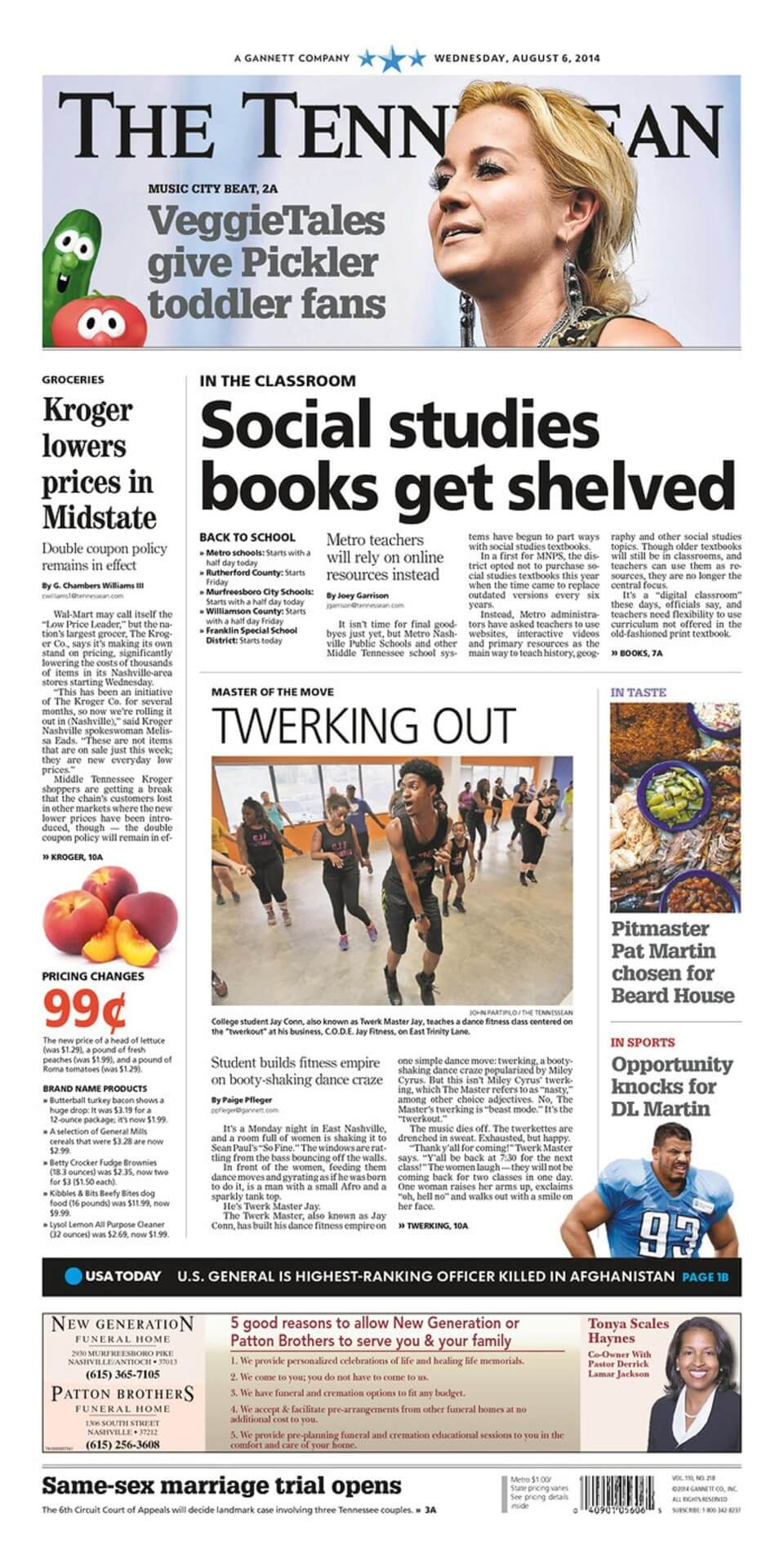 Tennessee newspapers 1 The Tennessean