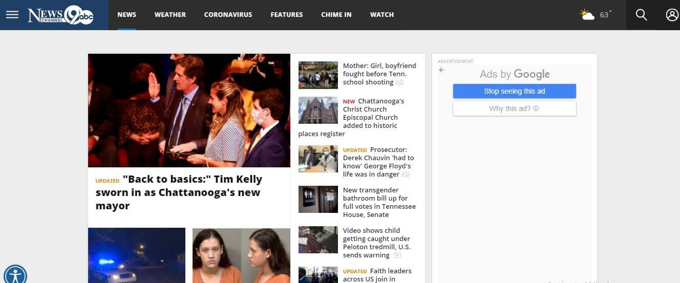 Tennessee newspapers 7 News Channel 9 website